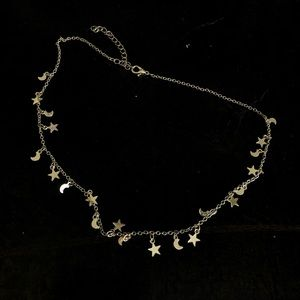 PacSun Star & Moon Choker Necklace